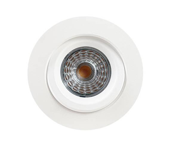 9W Infinity 360° Comfort IP44 RA90+,matt hvit